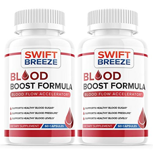 (2 Pack) Blood Boost Formula Pill Supplement, Blood Boost Formula for Diabetes Capsules - Blood Sugar Support for High Blood Pressure Diabetes - Natural Nutrition (120 Capsules)