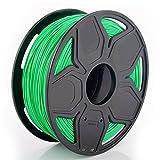 TIANSE PLA+ 3D Printer Filament, Dimensional Accuracy +/- 0.03 mm, 1 kg Spool, 1.75 mm, Green