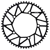 VGEBY1 Rueda de Cadena de Bicicleta, 50/52/54/56 / 58T 130BCD Plato de una Sola Velocidad de Bicicleta para la mayoría de Las Bicicletas de Carretera Bicicleta de montaña(56T)