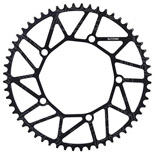 VGEBY Fahrradkettenblatt, Positive und Negative Zähne im Freien 130BCD Kurbel Single Disc Bike Single Speed Kettenblatt 50 52 54 56 58T(56T)