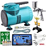 Airbrush Compressor KIT - Airbrushing Set - Dual Action Airbrush Gun - Airbrush Design Airbrush Compressor Kit...