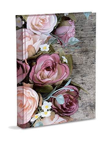 Mareli Album Fotografico con Taschette, Carta Stampata con Rifinitura Plastificata Opaca, Disegno Rose, 200 Foto 13x18