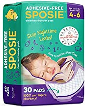 Sposie, Stop Nighttime Diaper leaks, Extra Overnight Protection for Bedwetting and Potty Training, Fits Diaper Sizes 4-6, 30 ct., Adhesive Free