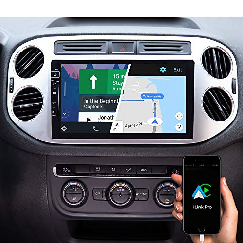 DYNAVIN Autoradio Navi für VW Golf 5 Plus | Tiguan 2007-2016, 9 Zoll OEM Radio mit Bluetooth, DAB+ Ready, USB; Kompatibel mit Carplay und Android Auto: DIX-V-83S Flex