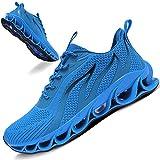 TIAMOU Mens Running Shoes Walking Non Slip Blade Type Sneakers Blue