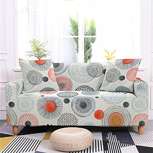 AMZAO Fodere per divano ad alta elasticità 1 2 3 4 posti Fodera per divano con fiore geometrico Fodera per divano componibile Fodera per divano a forma di L Fodera protettiva per mobili per animali