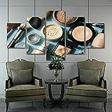 37Tdfc Grande Cuadro Abstracto sobre Lienzo Modernos Impresión de Imagen Pared 5 Piezas Sala Estar Dormitorio Moderno Decoración Wall Art Canvas Maquillaje Set Cepillo Belleza