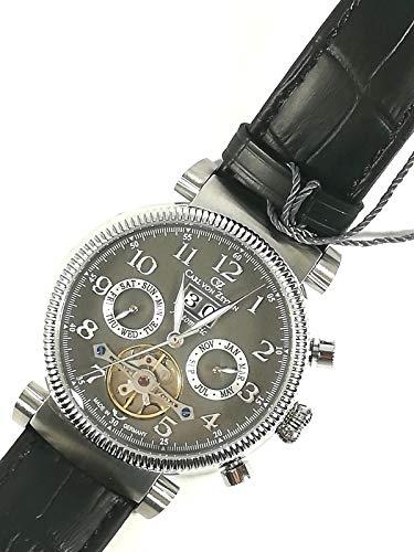 CARL VON ZEYTEN Reloj de hombre original CVZ0049GY caja de acero 43 mm piel New