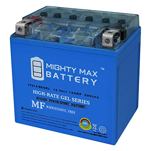Mighty Max Battery YTX14-BS Gel Battery Replacement for Honda Pioneer 1000 16-18 Brand Product