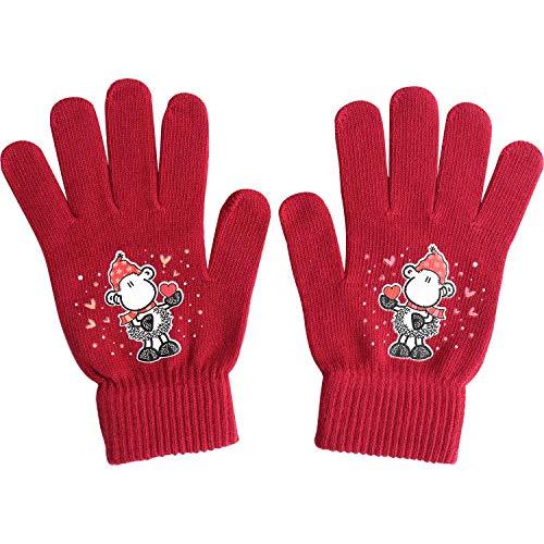 Die Geschenkewelt 49800 Zauber-Handschuh mit Sheepworld Schaf, Baumwolle, Einheitsgröße, Rot