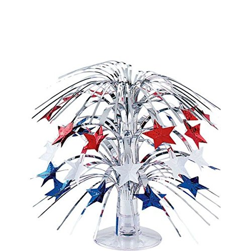 """Patriotic Star Mini Foil Cascade 4th of July Party Table Centerpiece Decoration, 8""""."""