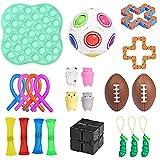Xiaoqiao Sensory Fidget Toys Set de juguetes de ventilación para descompresión, alivio del estrés, burbuja sensorial, regalo para niños/adultos (colorido, 24 piezas)