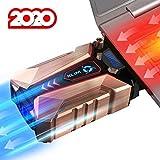 KLIM Cool + Refroidisseur PC Portable en Métal - Le Plus Puissant - Extracteur d' Air USB pour Refroidissement Immédiat - Ventilo - Version 2020