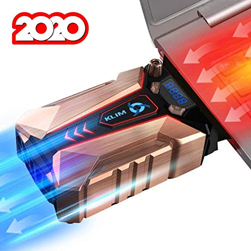 KLIM Cool + Notebook-Kühler aus Metall - Der Stärkste - Vakuum USB für Sofortige Kühlung - Cooler Ständer Kühlpad Gegen die Überhitzung [ Neue 2020 Version ]