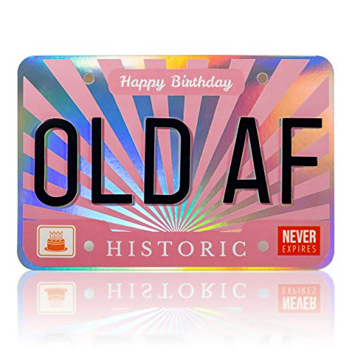 Funny Old woman Joke Happy Birthday Greeting Card – Great Happy Bday Gift for Mom, Sister, Wife, Daughter, Girlfriend   30th 40th 50th 60th 70th - Comes w/ envelope and seal [BIG 9 inch X 6 inch size]