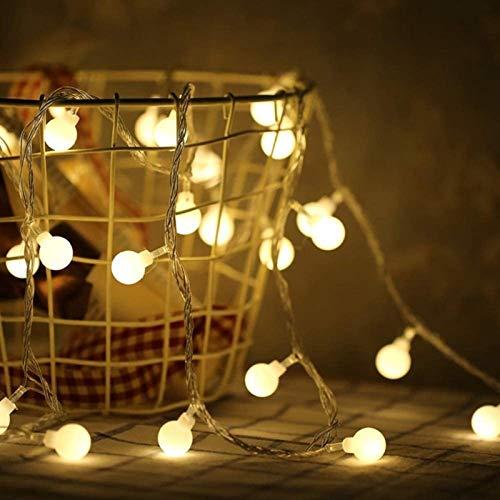 HYJMJJ Led Ball String Light Ball Chain Fairy Garland Lights Bulb Light Waterproof for Outdoor Wedding Christmas Home Decor 20 LEDs 3M Warm White