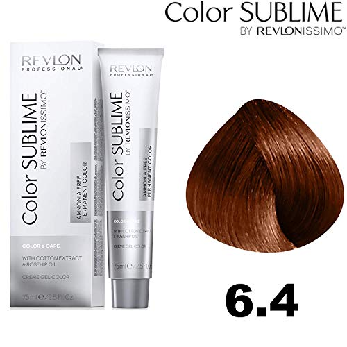 Revlon Professional Color Sublime By Revlonissimo Color&Care Ammonia Free Permanent Color 6.4, Blond donker koper, per stuk verpakt (1 x 60 ml)