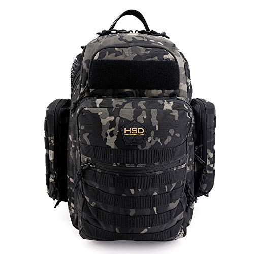 Diaper Bag Backpack for Dad - Large Baby Bag for Men with Travel Changing Pad, Unisex Toddler Gear (Black Camo)