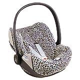 Cybex Cloud Z - Funda para portabebés, diseño de estampado de leopardo, ajuste perfecto, suave algodón Öko-Tex 100, absorbe el sudor y es suave para tu bebé
