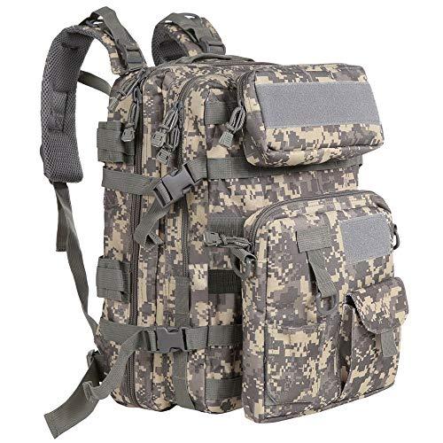 Sac à Dos Militaire Milainain 40L résistant à l'eau avec Poche détachable pour randonnée Camping Trekking Chasse