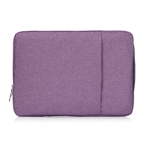 15.4 inch Sleeve Case,Suney Multifunctional Protection Handbag Case with Handle Laptop Sleeve Cover Briefcase 360° Protective MacBook Carrying Bag for 15-15.4 inch Laptop MacBook Tablet - Purple