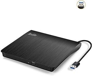 External CD Drive USB 3.0 Portable CD DVD +/-RW Drive DVD/CD ROM Rewriter Burner Writer Compatible with Laptop Desktop PC ...