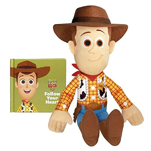 Kohl's Cares Toy Story 4 Plush Doll and Story Book Set Woody Bo Peep Buzz (Woody)