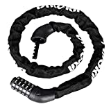 Bike Chain Lock -Keyless Bike Lock Heavy Duty Chain,3FT Folding Chain Lock with 5-Digit Anti-Theft Combination Bicycle for All Road & Mountain Bicycles Motorcycle and More