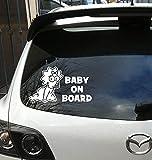 DKISEE Calcomanía de vinilo impermeable de 6 pulgadas para niña bebé a bordo, ventana trasera de coche, pegatinas para bebés, coches, ventanas, espejos, ordenadores portátiles, dispositivos móviles