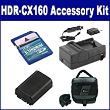 Sony HDR-CX160 Camcorder Accessory Kit Includes: SDM-109 Charger, KSD2GB Memory Card, SDC-27 Case, SDNPFV50NEW Battery