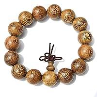 ブレスレット 木製の数珠 ズ パワーブレスレット男性と女性向け(15mm)