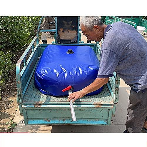 Gzhenh Bolsa De Agua Plegable, Recipiente De Agua Plegable Portátil con Grifo Alta Capacidad Usado para Resistencia A La Sequía Agricultura, Personalizable (Color : Blue, Size : 240L/1x0.6x0.4m)