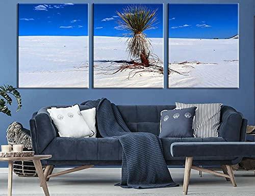 QUANQUAN Quadro su Tela - 3 Pezzi 150 * 70CM Stampa su Tela Quadri su Tela 3 Pannelli Stampe Dolce Bianco Selvaggio Naturale HD Poster Murale Quadri Decorazioni per Casa Moderni Soggiorno XXL