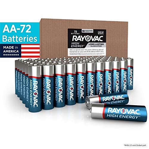 Rayovac AA Batteries, Alkaline Double A Batteries (72 Battery Count)