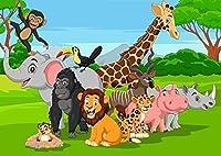 ジグソーパズル1000ピースパズル子供漫画ジグソーパズル教育玩具ギフト動物の世界