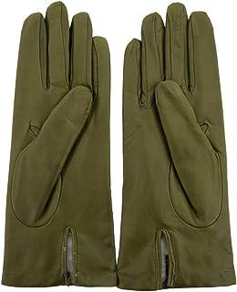 Luxury Fashion   Sermoneta Gloves Womens SG10307A418 Green Gloves   Season Permanent
