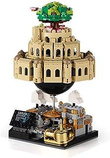 Children Assembling Toy Music Box Assembling Building Blocks Children Rotating Suspension Castle Birthday Gift FX