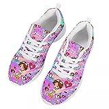 chaqlin Zapatillas de deporte para hombre de mujer,Zapatillas de deporte casuales,Zapatos de senderismo para correr de vacaciones de verano, color Rosa, talla 43.5 EU