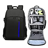 (FBA) Backpack for DJI FPV Combo, Waterproof Shockproof Drone Bag Case for DJI FPV Fly Accessories, Racing Drone, Goggles V2, Remote Controller 2, Motion Controller, Battery (Black)