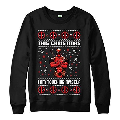 Deadpool - Maglione natalizio per adulti e bambini Nero L