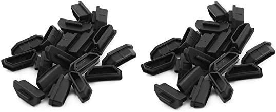 BTMB PVC HDMI Female Dust Cover Port Protectors Computer A Type Cover Cap Black,Pack of 30