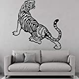 Tianpengyuanshuai Etiqueta de la Pared del Tigre Etiqueta de la Pared de Moda Etiqueta de Arte de Pared de Fondo 30X29cm