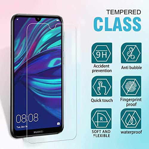 Ferilinso Panzerglas Schutzfolie für Huawei Y7 Prime 2019/ Huawei Y7 Pro 2019/ Huawei Y7 2019, [3 Pack] Gehärtetes Glas Displayschutzfolie (Transparent) - 2