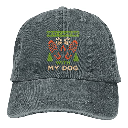 gymini Best Camping with My Dog,Camping,Camping,Camping,Dog Hat Hat Cotton Casquette de baseball réglable pour homme et femme