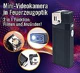 USB-Feuerzeug-Kamera - Full HD   Mini-Videokamera in Feuerzeugoptik   2 in 1 Funktion: Filmen und Anzünden!   integrierte LED-Taschenlampe