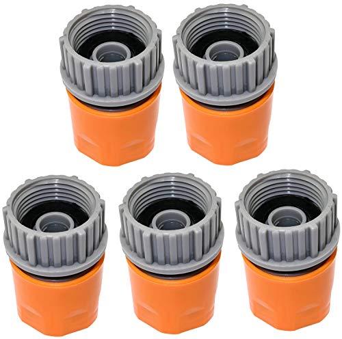 AERZETIX - Juego de 5 Racores/Adaptadores de Grifo con Rosca para Manguera 1/2'' a Rosca Hembra 3/4'' - Conector para Manguera de riego - plástico - C47476