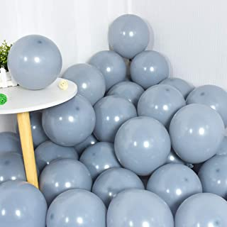 100Pcs Gray Balloons 10 Inch Grey Balloon Latex Round Party Balloons for Party Birthday Wedding Graduation Anniversary Bab...