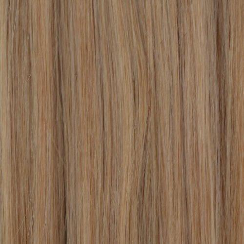 """25 Mèches d'extensions de cheveux 100% humain 20"""" - #24NAB Natural Ash Blonde"""