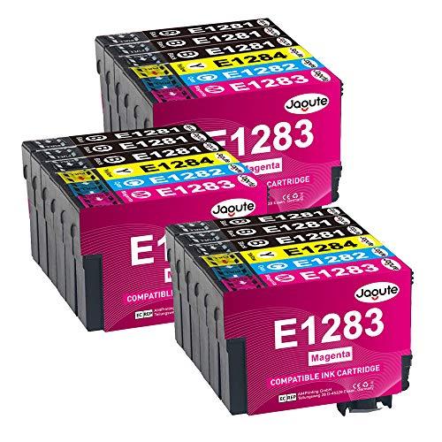 Jagute T1285 Cartouche Remplacement pour Epson T1281 T1282 T1283 T1284 XL Cartouche d'encre Compatible avec Epson Stylus SX125 SX425W SX130 SX420W SX230 SX235W SX435W SX445W BX305F BX305FW