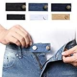 Denim Waist Extenders for Men and Women(6 Pack), Adjustable Waistband Expanders for Jeans Trousers Pants Buttons Extender Set